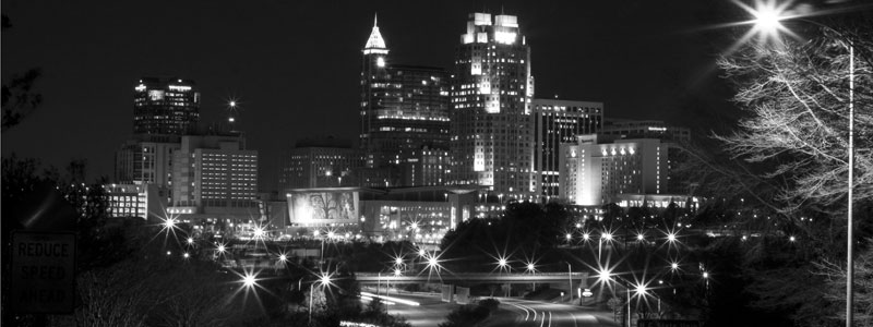 Raleigh skyline by LaRocque Photography